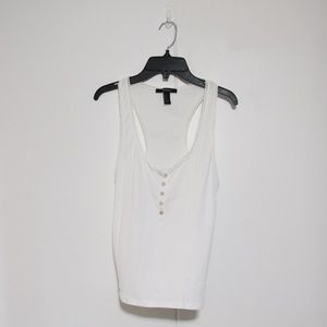 BOGO 3 FOR $10. Forever 21 White Tank top